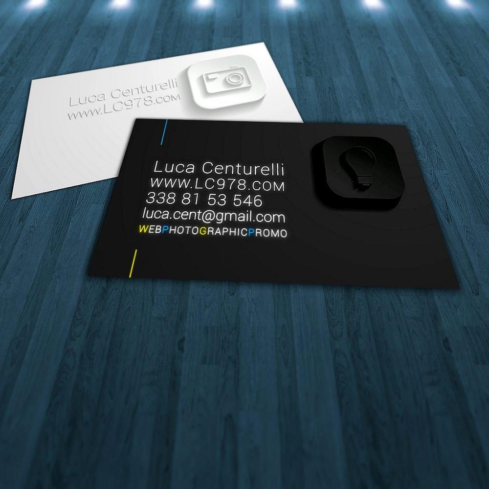 biglietto da visita fotografo agenzia studio fotografico