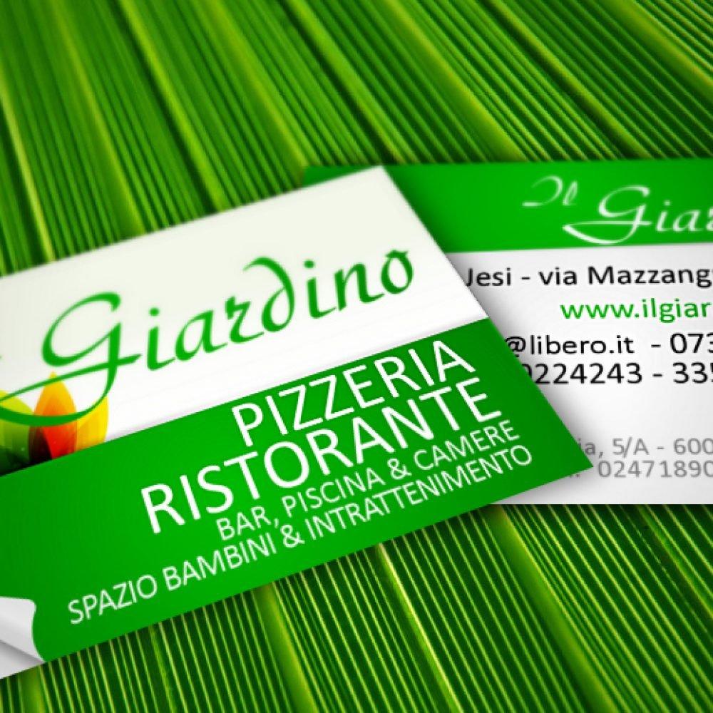 biglietto da visita promozionale per ristorante locale pizzeria