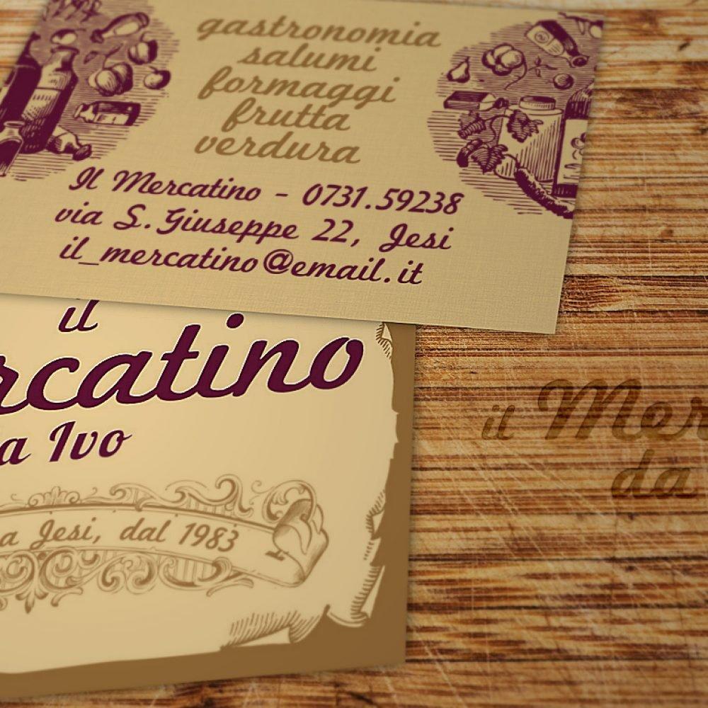 biglietto da visista promozionale per gastronomia negozio